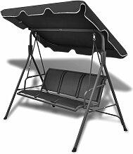 Vidaxl - Hollywoodschaukel mit Dach Schwarz