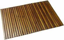vidaXL Holz Badematte 80x50cm Badteppich
