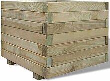 vidaXL Holz Blumenkübel 50x50cm Pflanzkübel