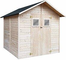 vidaXL Holz Gartenhaus mit 2 Fenstern