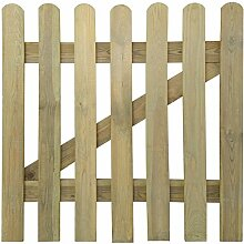vidaXL Holz Imprägniert Gartentor 100x100cm