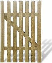 vidaXL Holz Imprägniert Holztor Gartentor