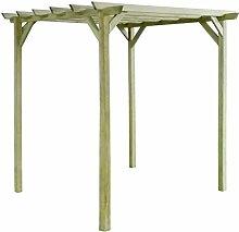 vidaXL Holz Pergola Gartenlaube Rosenbogen Spalier Rankhilfe Kiefernholz 200x200x200 cm