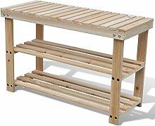 vidaXL Holz Schuhablage Regal Schuhständer Aufbewahrung Schuhschrank Sitzbank