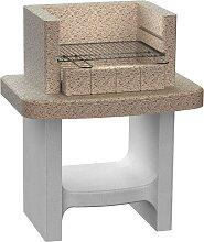vidaXL Holzkohle-Standgrill aus Beton mit Ablage