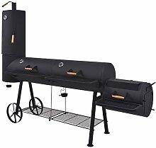 vidaXL Holzkohlegrill mit Ablage XXXL Smoker BBQ