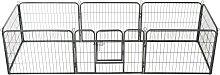 vidaXL Hunde-Laufgitter 8 Paneele Stahl 60 x 80 cm