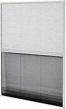 vidaXL Insektenschutz Alurahmen Jalousie Dachfenster Plissee Fliegengitter