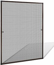 vidaXL Insektenschutz Fenster 100x120 cm Alu