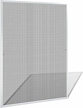vidaXL Insektenschutz Fenster 120x140 cm Alu