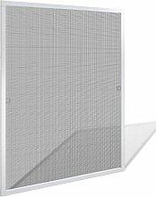 vidaXL Insektenschutz Fenster 80x100 cm Alu Rahmen