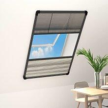 vidaXL Insektenschutz-Plissee für Fenster Alu