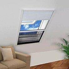 vidaXL Insektenschutz-Plissee für Fenster