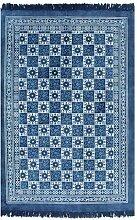 vidaXL Kelim Teppich 120x180cm Baumwolle Muster