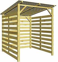 Green Yard Holzunterstand Blech Holzlager Kaminholz inkl Untergestell