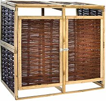 vidaXL Kiefer Mülltonnenbox für 2 Tonnen Weide