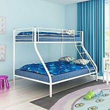 vidaXL Kinder Etagenbett 200x140/200x90cm Metall