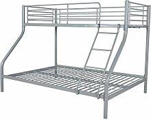vidaXL Kinder Hochbett Etagenbett Jugend Doppelstockbett 200x140/200x90cm Metall