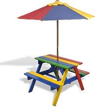 vidaXL Kinder-Picknicktisch mit Bänken