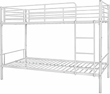 vidaXL Kinderbett Etagenbett Hochbett Doppelstockbett Bettrahmen 200x90cm Metall