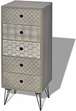 vidaXL Kommode Sideboard Schubladenschrank mit 5
