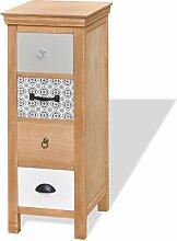vidaXL Kommode Sideboard Schubladenschrank Telefonschrank 5 Schubladen Massivholz Braun