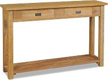 vidaXL Konsolentisch Massivholz Teak 120×30×80 cm