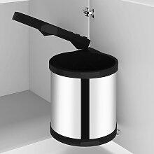 vidaXL Küchen-Einbau-Mülleimer Edelstahl 8 L