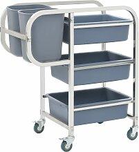 vidaXL Küchenwagen mit Kunststoffbehältern