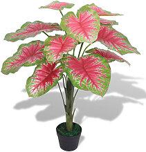 vidaXL Künstliche Caladium-Pflanze mit Topf 70 cm