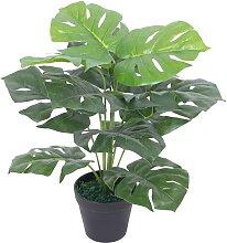 vidaXL Künstliche Monstera-Pflanze mit Topf 45 cm