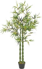vidaXL Künstliche Pflanze Bambus mit Topf Grün