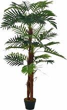 vidaXL Künstliche Pflanze Palme mit Topf Grün