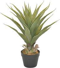 vidaXL Künstliche Pflanze Yucca mit Topf Grün 90