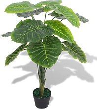 vidaXL Künstliche Taro-Pflanze mit Topf 70 cm