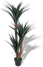 vidaXL Künstliche Yucca-Pflanze mit Topf 155 cm