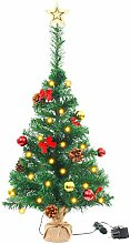 vidaXL Künstlicher Weihnachtsbaum Geschmückt LED