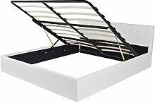 vidaXL Kunstlederbett Doppelbett Polsterbett