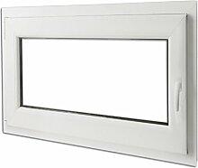 vidaXL Kunststoff Dreh/Kipp Garage Kellerfenster Griff rechts 90x70cm 2-Fach