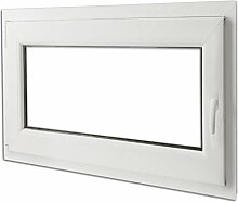 vidaXL Kunststofffenster Dreh/Kipp Garage Kellerfenster Griff rechts 90x70cm 2-Fach
