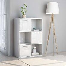vidaXL Lagerschrank Hochglanz-Weiß 60 x 29,5 x 90