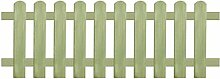 vidaXL Lattenzaun Kiefer 170x60 cm 6/9 cm Holzzaun Gartenzaun Friesenzaun Zaun