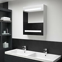 vidaXL LED-Bad-Spiegelschrank 50 x 14 x 60 cm
