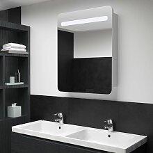 vidaXL LED-Bad-Spiegelschrank 60 x 11 x 80 cm