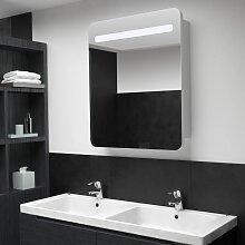 vidaXL LED-Bad-Spiegelschrank 68 x 11 x 80 cm