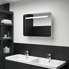 vidaXL LED-Bad-Spiegelschrank 80 x 11 x 55 cm