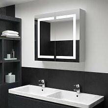 vidaXL LED-Bad-Spiegelschrank 80 x 12,2 x 68 cm