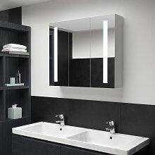 vidaXL LED-Bad-Spiegelschrank 89 x 14 x 62 cm