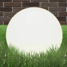 vidaXL LED-Gartenleuchte Kugelförmig 50 cm PMMA