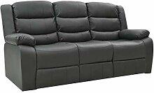 vidaXL Liegesofa 3-Sitzer Sofa Couch Polstersofa